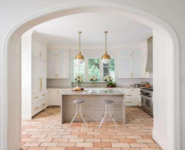 полукруглая арка из гипсокартона на кухню