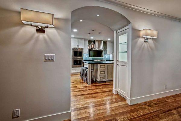 встроёная арка из гипсокартона на кухню