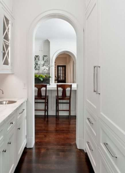 арка на кухне прованс из гипсокартона
