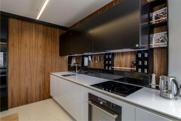 стенновые панели мдф в интерьере кухни