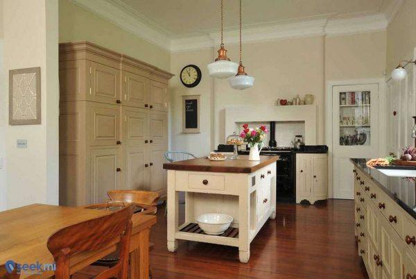 пастельные оттенки стен в интерьере кухни