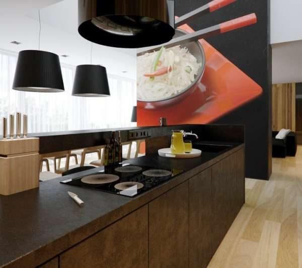 3D фотообои с блюдом