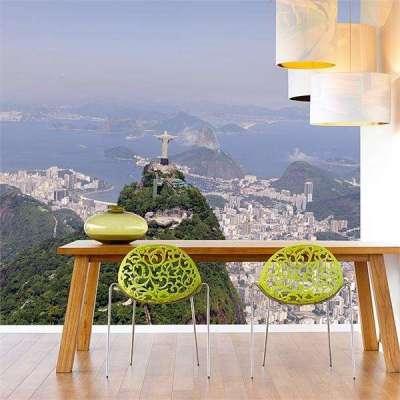 3D фотообои на кухне с изображением Бразилии