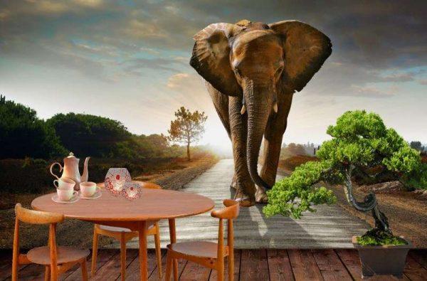 3D фотообои в африканском стиле на кухню