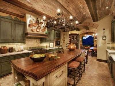 освещение кухни в итальянском стиле