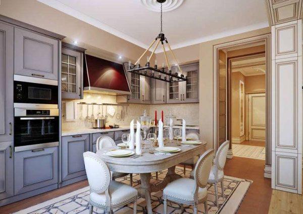 Кухня в квартире в итальянском стиле