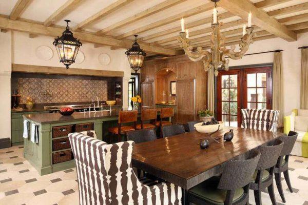 островная кухня в итальянском стиле