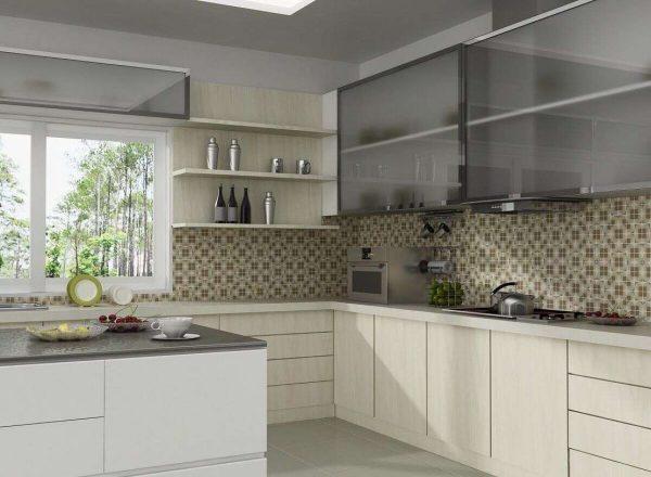 плитка мозаика для фартука на кухне