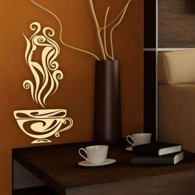 декор на кухне в стиле кофе с молоком