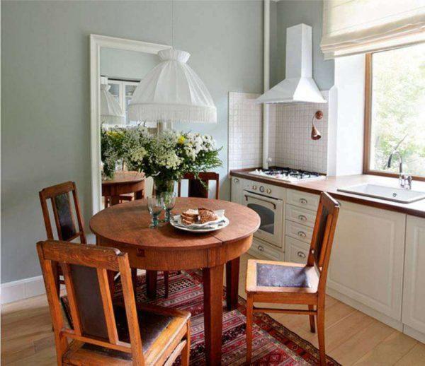 кухня односторонняя без верхних шкафов