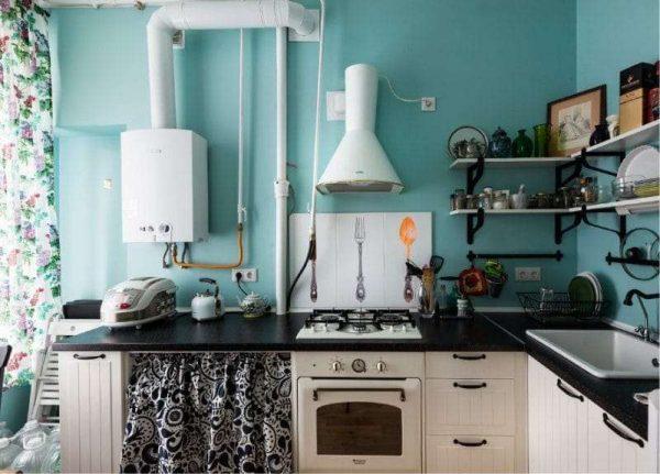 кухня прованс без верхних шкафов