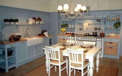 кухня кантри без верхних шкафов