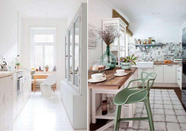 стиль прованс на кухне без верхних шкафов