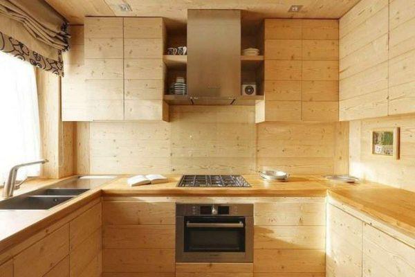 кухня из светлого дерева своими руками
