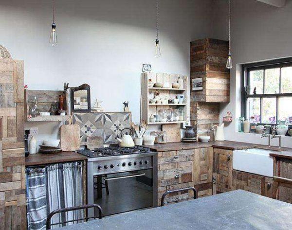 кухня из деревянных планок своими руками