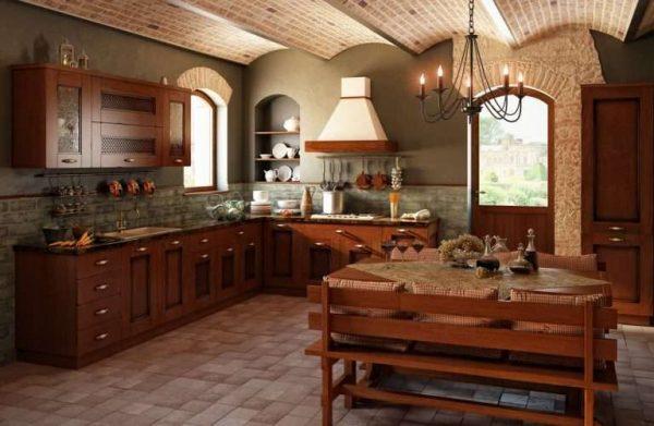 угловая кухня из дерева своими руками
