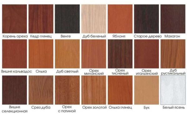 цвета и фактура дерева