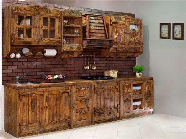 кухонный гарнитур из деревянного массива