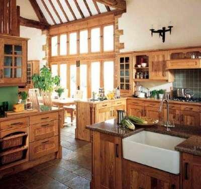 современная деревянная кухня своими руками