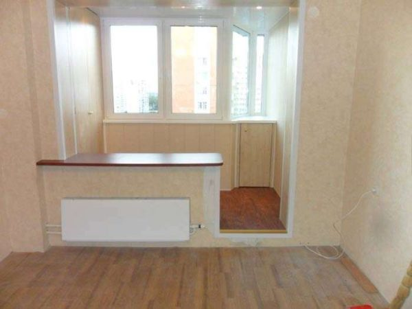 утепление балкона или лоджии под кухню