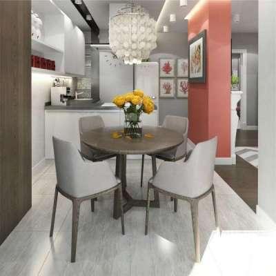 обеденный стол на кухне на балконе или лоджии