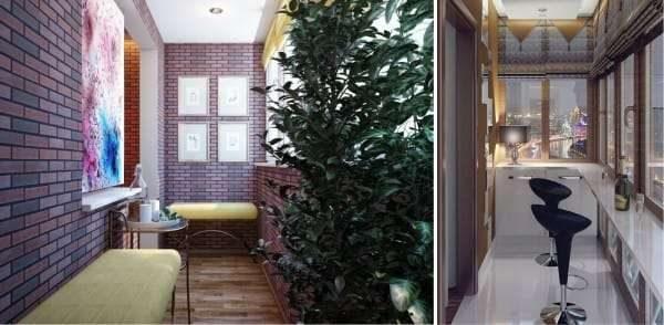 зона отдыха на кухне на балконе или лоджии