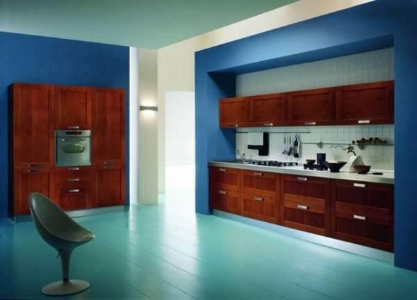 Кухонный гарнитур в нише