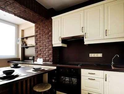 шкаф на лоджии совмещённой с кухней