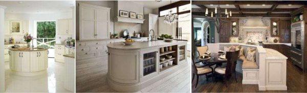 примеры островных столов в интерьере кухни