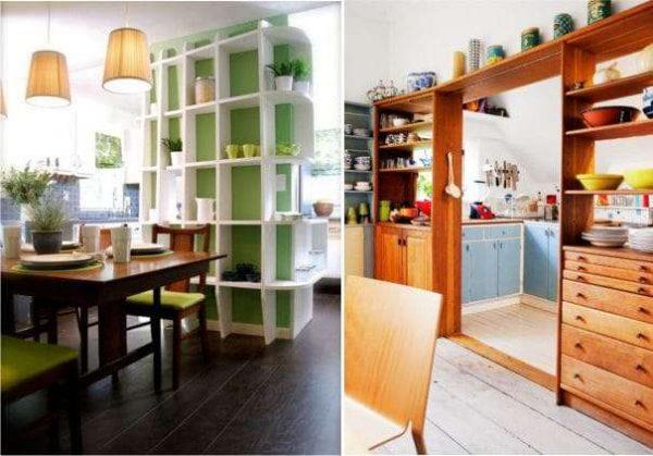 перегородки для совмещённой кухни гостиной