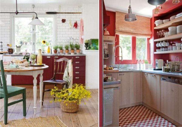 полы на кухне в английском стиле