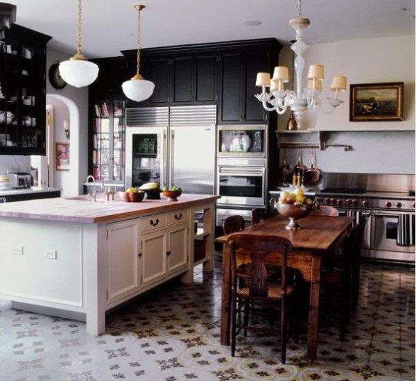 зонирование на кухне совмещённой с гостиной в частном доме