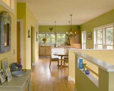 салатовые стены на кухне