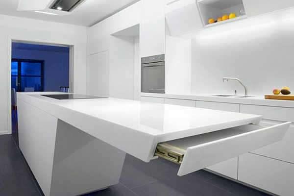 мебель на кухне в стиле минимализм