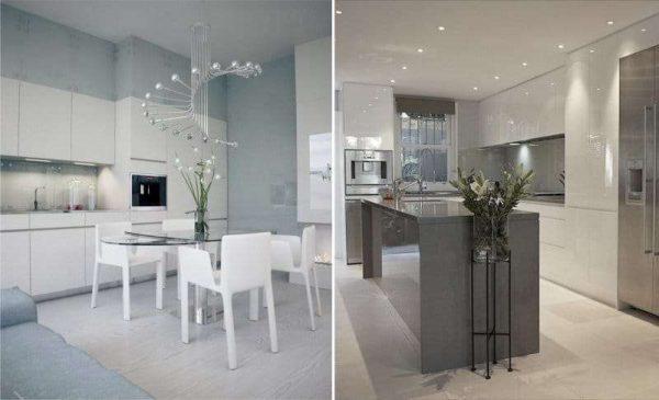 освещение на кухне в стиле минимализм