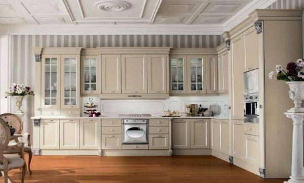 мебель на кухне в стиле неоклассика