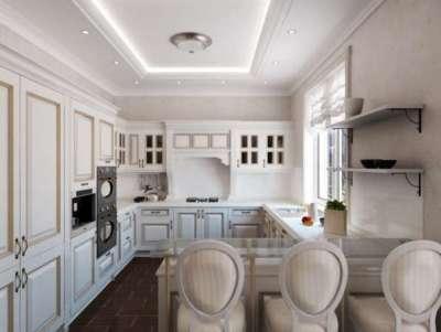 светлая кухня в стиле неоклассика