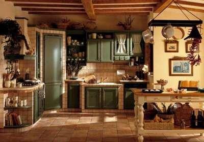 оливковый и коричневый цвета в стиле кантри