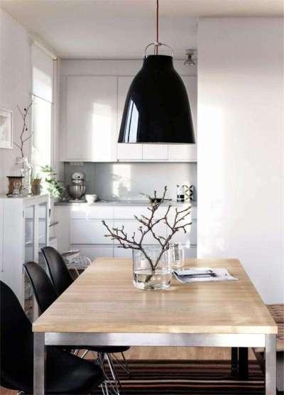 белая кухня в японском стиле