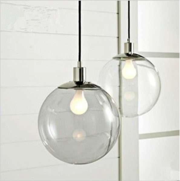 прозрачная люстра круглый шар на кухню