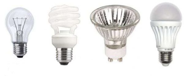 виды ламп для люстр