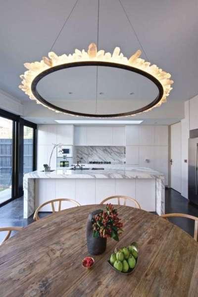 круглая люстра для кухни