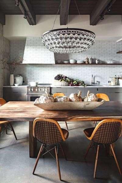 роскошная круглая хрустальная люстра для кухни