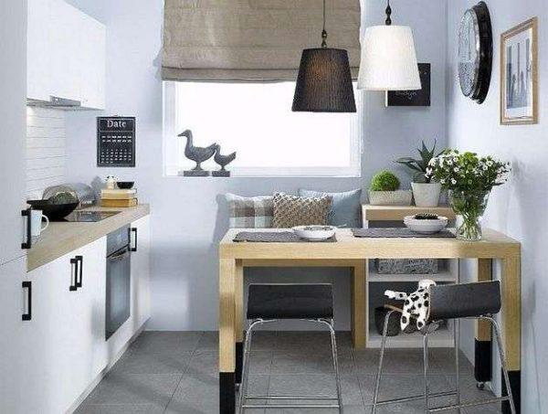стильный декор на маленькой кухне