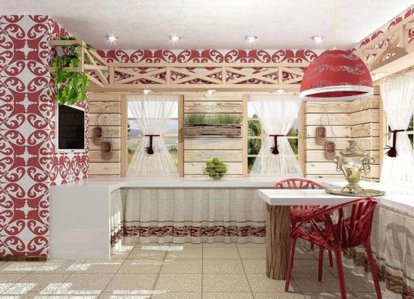 кухня в этно стиле