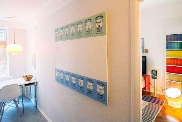 оформление стены кухни