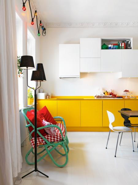 покраска стен кухни белой краской