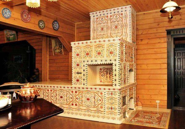 плитка для отделки печки в доме