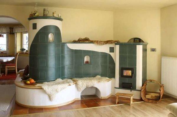 печка в современном доме
