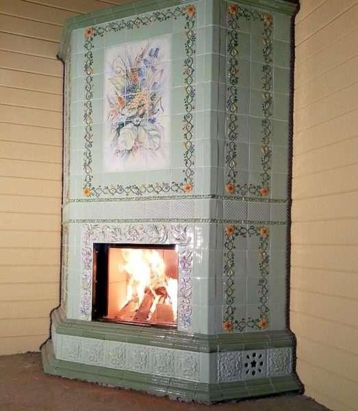 печка в стиле прованс для частного дома